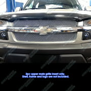01-06 Chevy Avalanche W/Body Cladding Stainless Steel X Mesh Grille Grill Insert