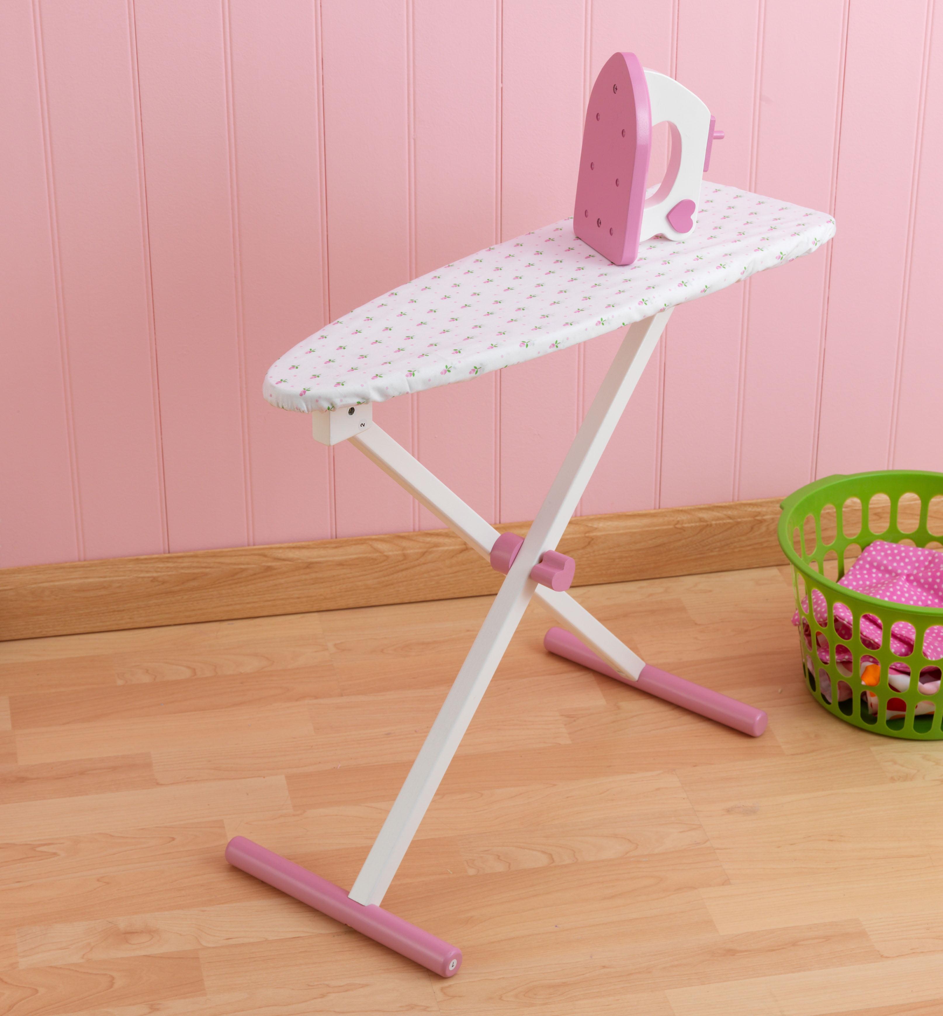 kidkraft tiffany bow wooden ironing set