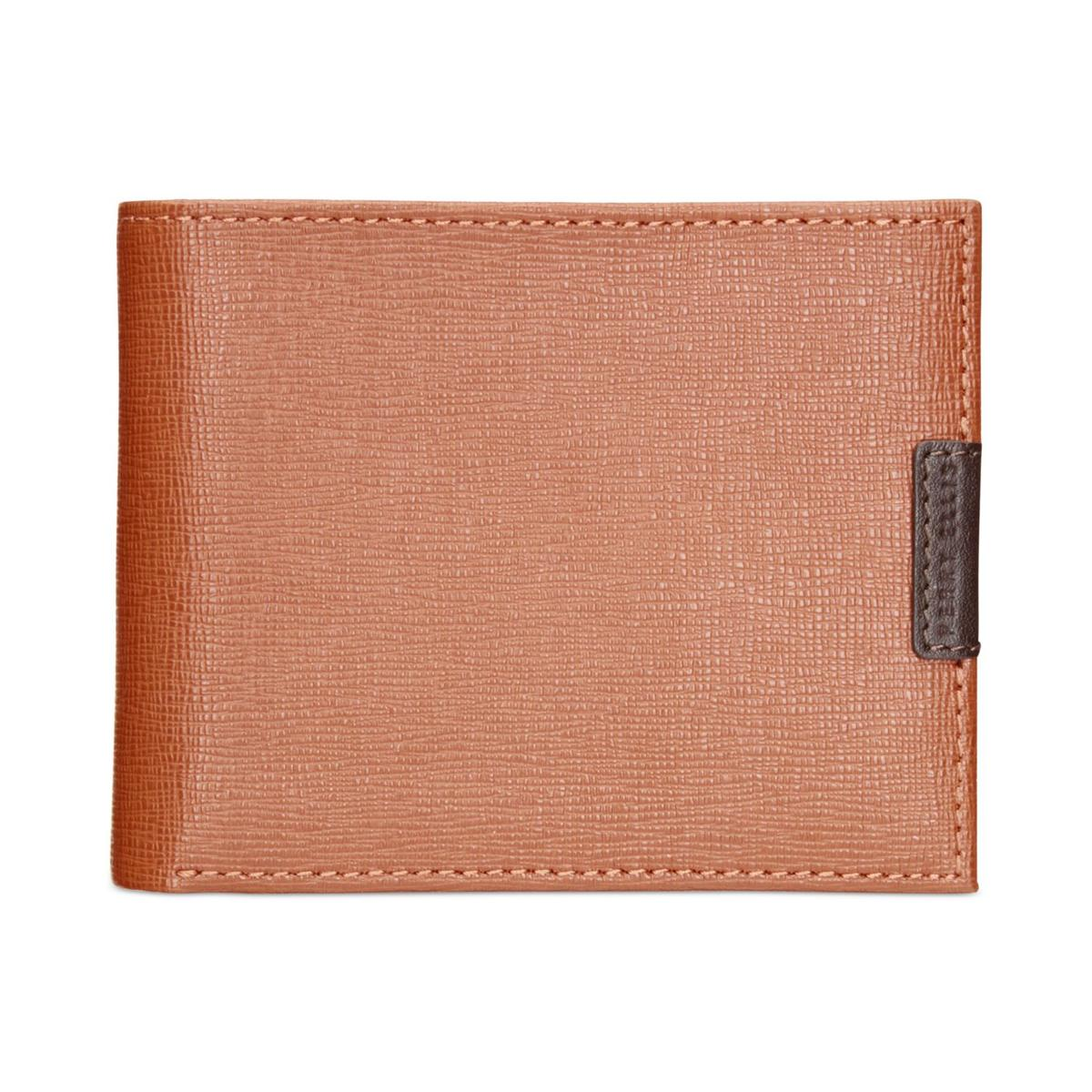 Perry Ellis Portfolio Mens West Virginia Leather Textured...
