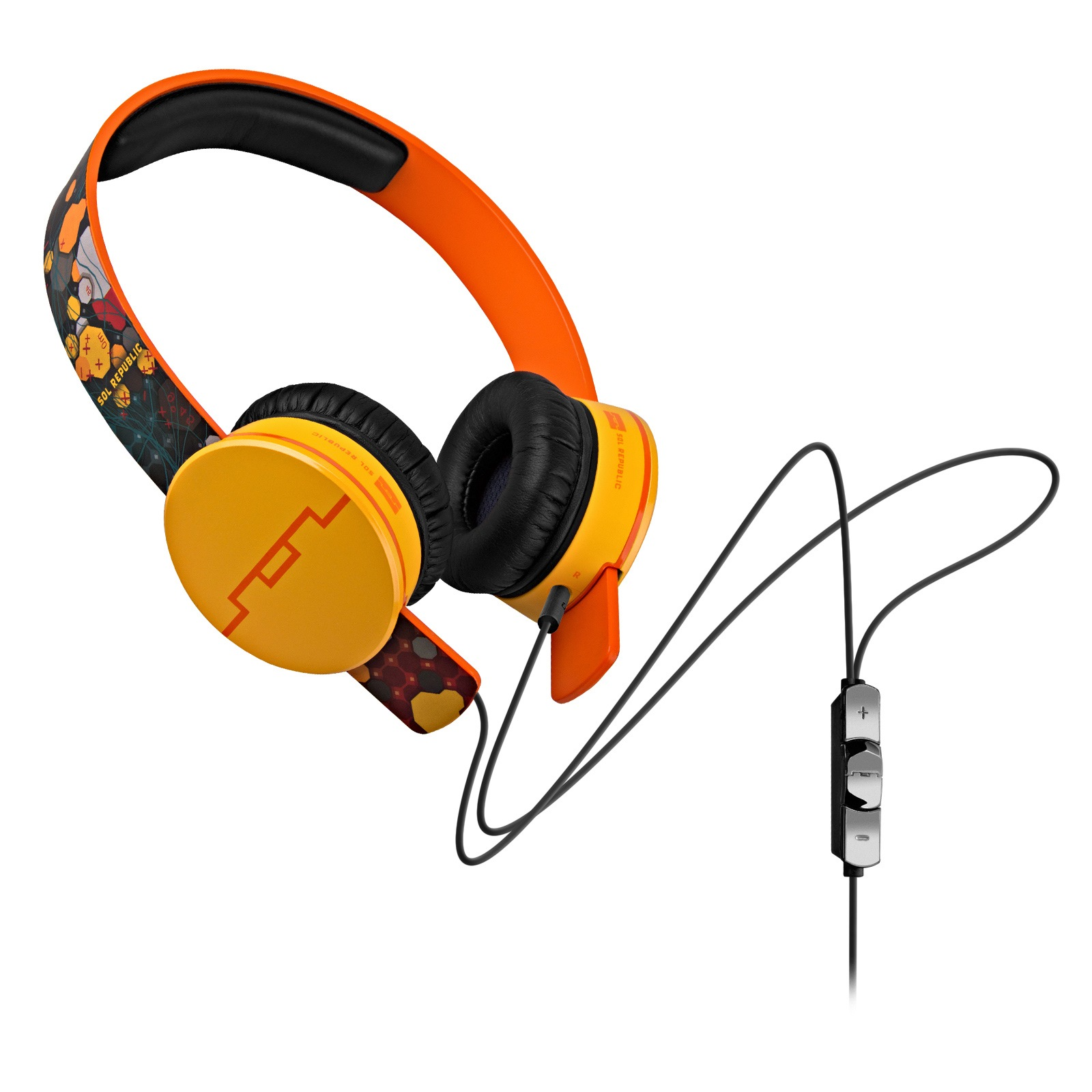Sol Republic 1299-01 Deadmau5 Tracks HD On-Ear Headphones with Remote (Orange) (Certified Refurbished)