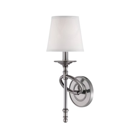 - Wall Sconces 1 Light With Brushed Pewter Finish Candelabra Bulbs 6 inch 60 Watts