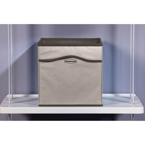 Rubbermaid Retrofit Closet Organizer 2-Pack Cubbies, Warm Grey