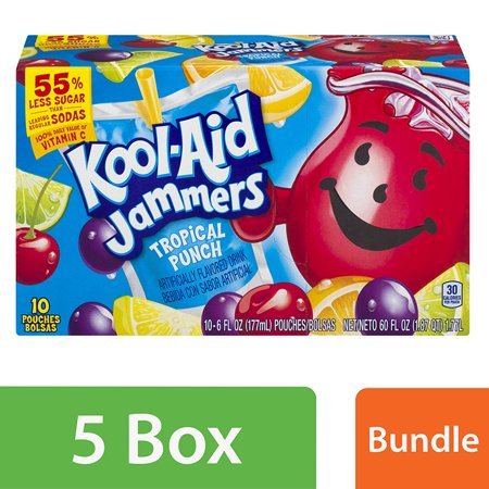 Rum Punch Drink Recipe ((5 Pack) Kool-Aid Jammers Tropical Punch Ready-to-Drink Soft Drink, 10 - 6 fl oz)