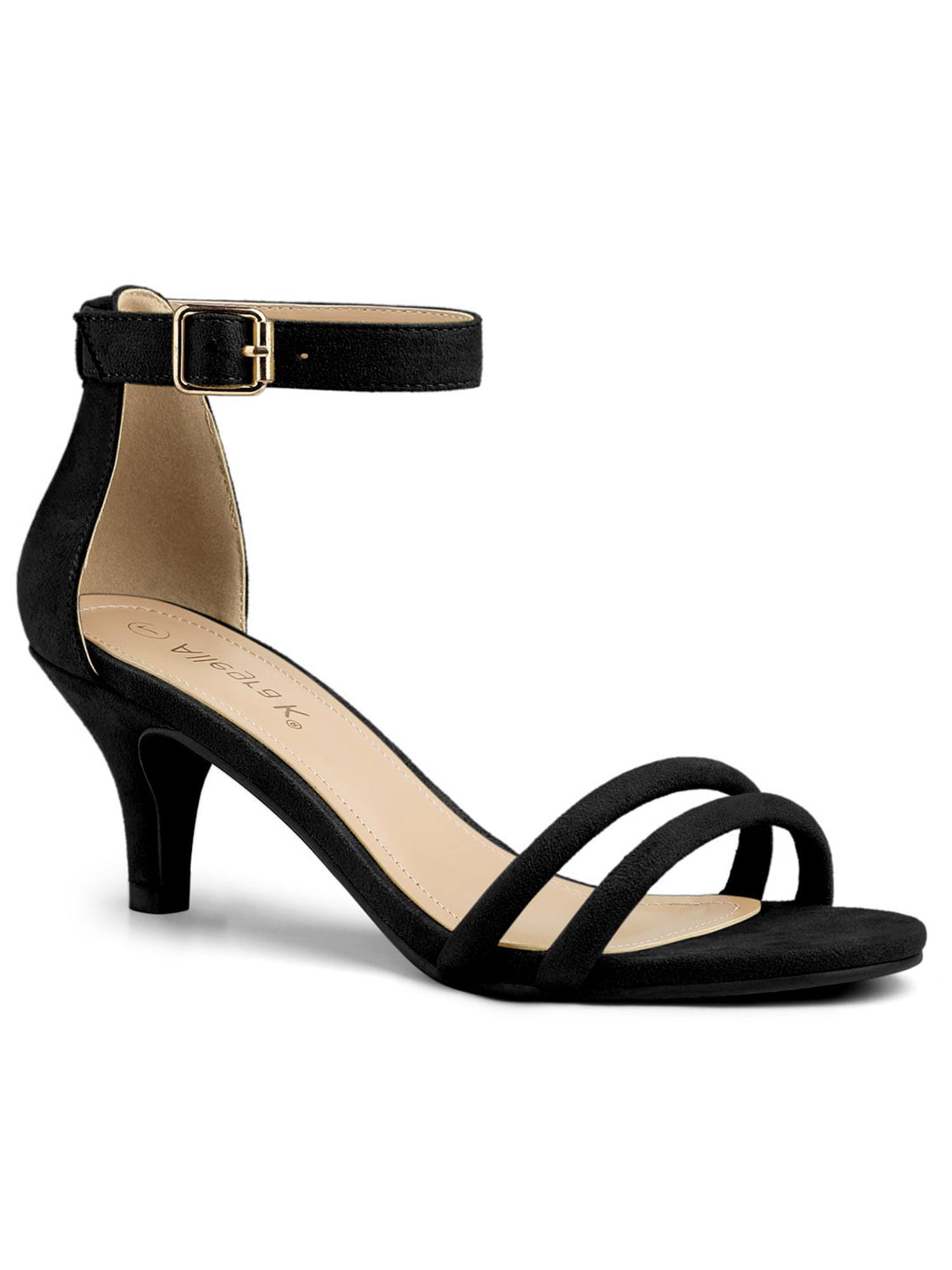 Allegra K Women's Kitten Low Heel Ankle