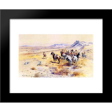 Indian War Party 20x24 Framed Art Print by Charles M. Russell