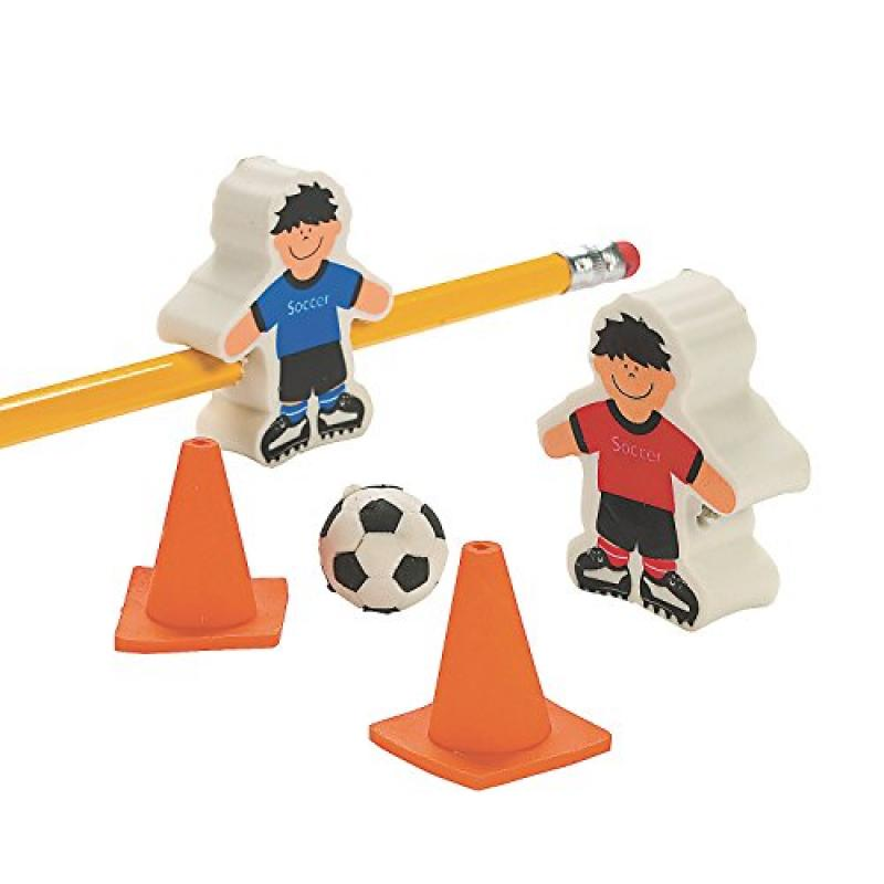42 Soccer Ball And Players Erasers Sports School by