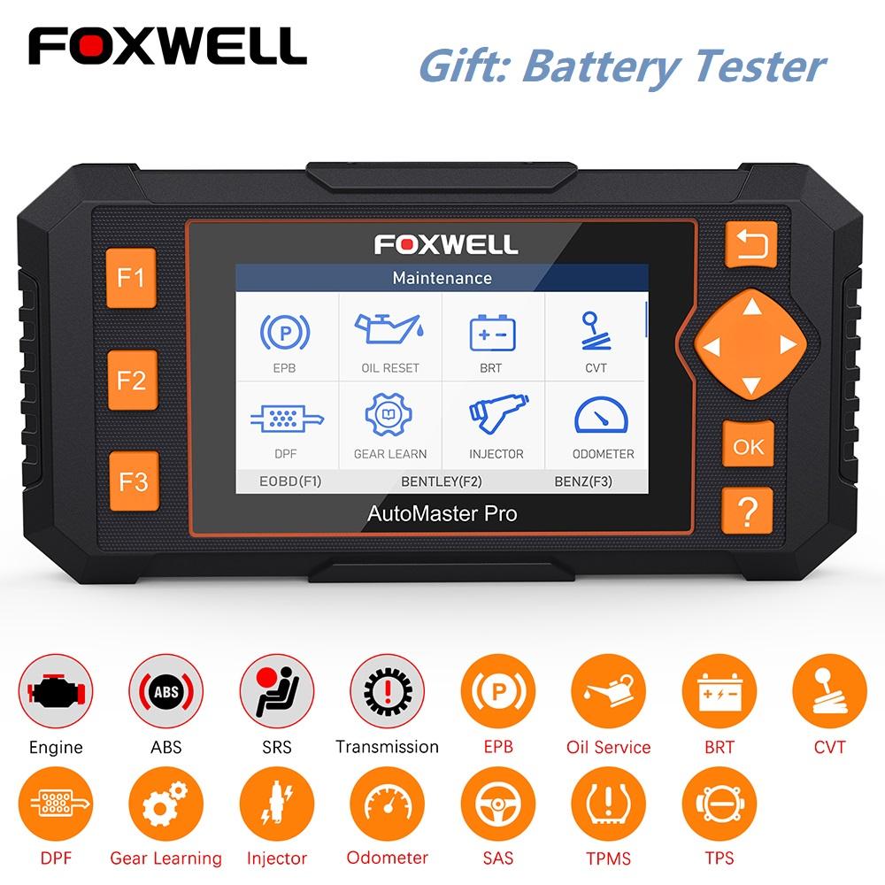 FOXWELL ABS SRS AT Enigne OBD2 Scanner Code Reader EPB Oil Reset ...