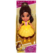 """Belle Beauty & The Beast Gold Sparkly Dress Disney Princess Mini Toddler Doll 3"""""""