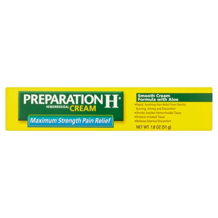 Preparation H  Maxiumum Strength Pain Relief Cream 1 8 Oz  Box