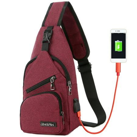7 Colors Men/'s Women/'s Crossbody Sling Bag Shoulder bag Chest Pack