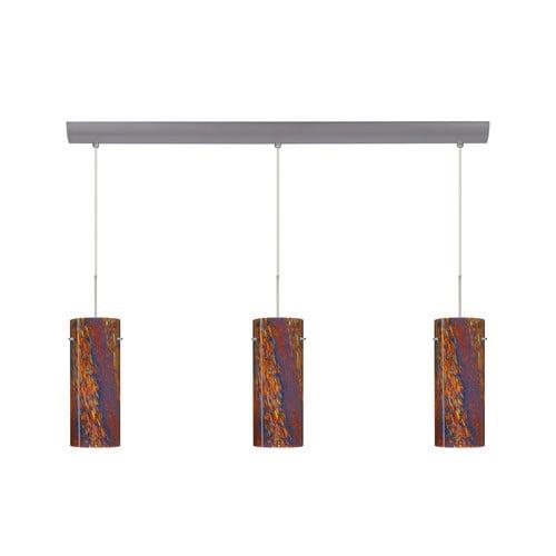 Besa Lighting Stilo 10'' 3 Light Cord Hung Mini Pendant with Bar Canopy