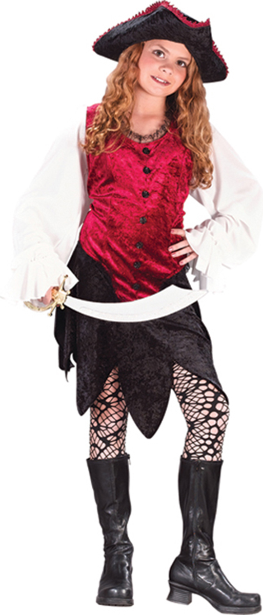Morris costumes FW5962SM Pirate Lady Child Small by Morris Cotumes