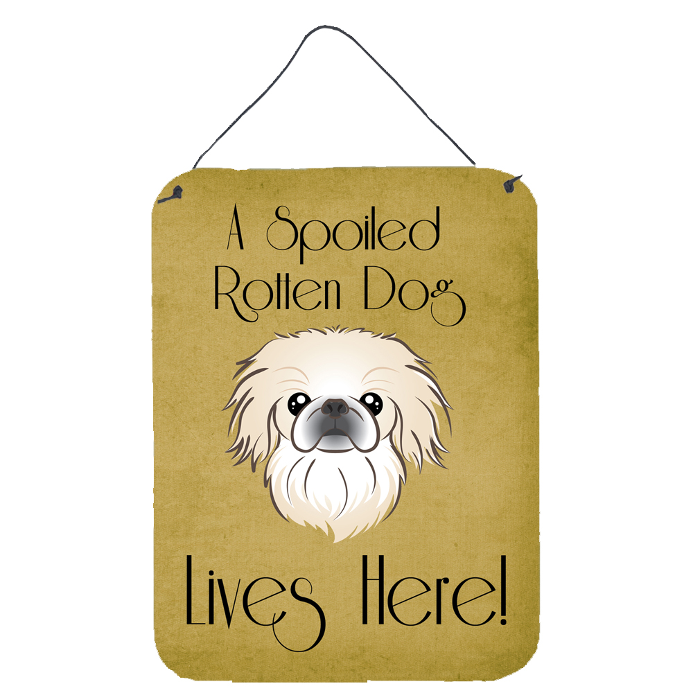 Pekingese Spoiled Dog Lives Here Wall or Door Hanging Prints