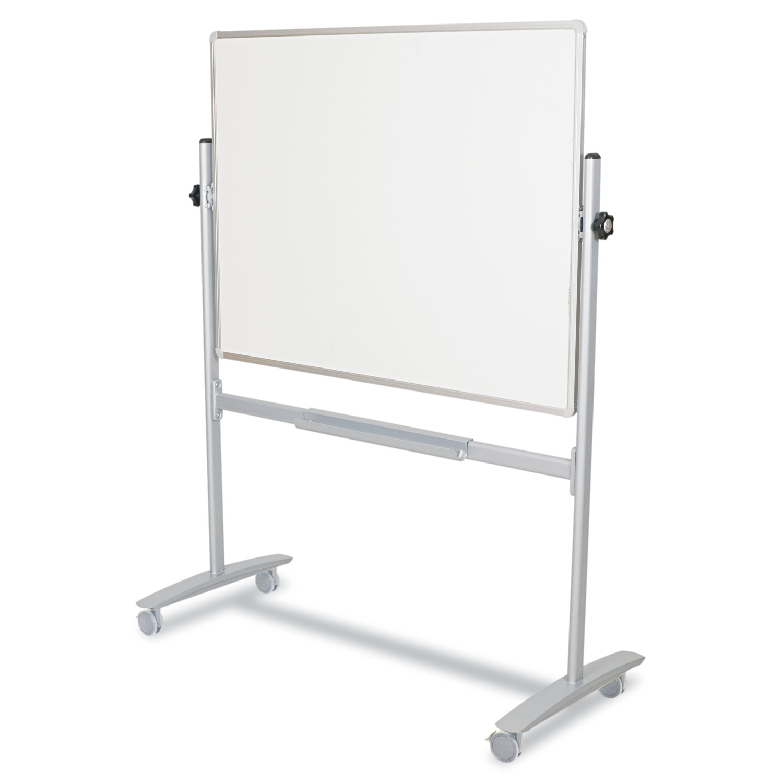 Best-Rite Mobile Reversible Whiteboard, White Silver, 60w x 48h by BALT INC.