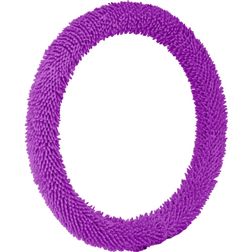 Bell Shaggy Steering Wheel Cover, Purple