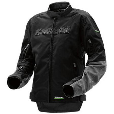 Kawasaki Limited Edition Riding Textile Jacket Black Grey (Kawasaki Textile Jacket)