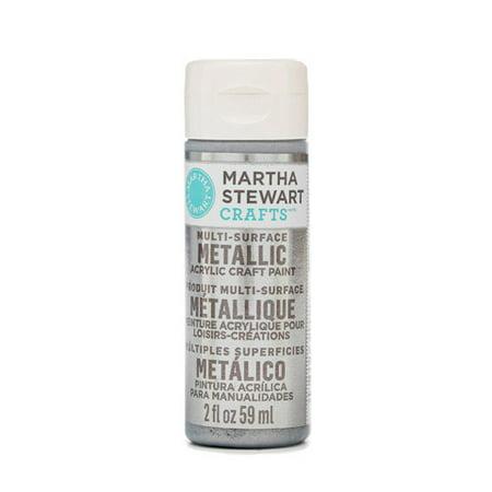Martha Stewart Crafts Multi-Surface Metallic Craft Paint: Pure Platinum, 2 Oz ()