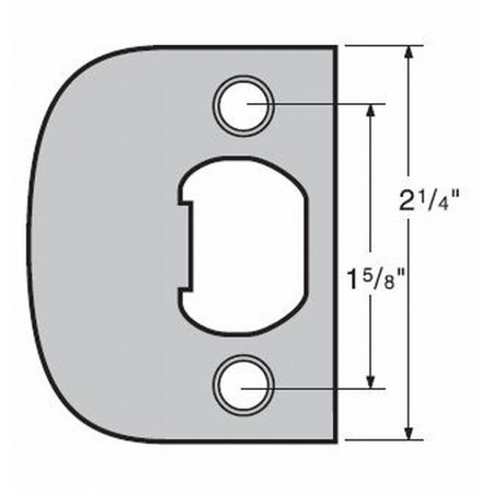 Kwikset 83437-15 Square Corner Full Lip Strike Satin Nickel Finish