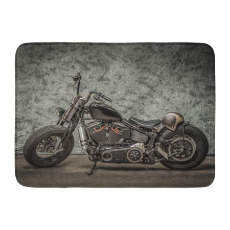 LADDKE Harley Motorcycle Cool Davidson Vintage Bike Chopper Classic Doormat Floor Rug Bath Mat 23.6x15.7 inch