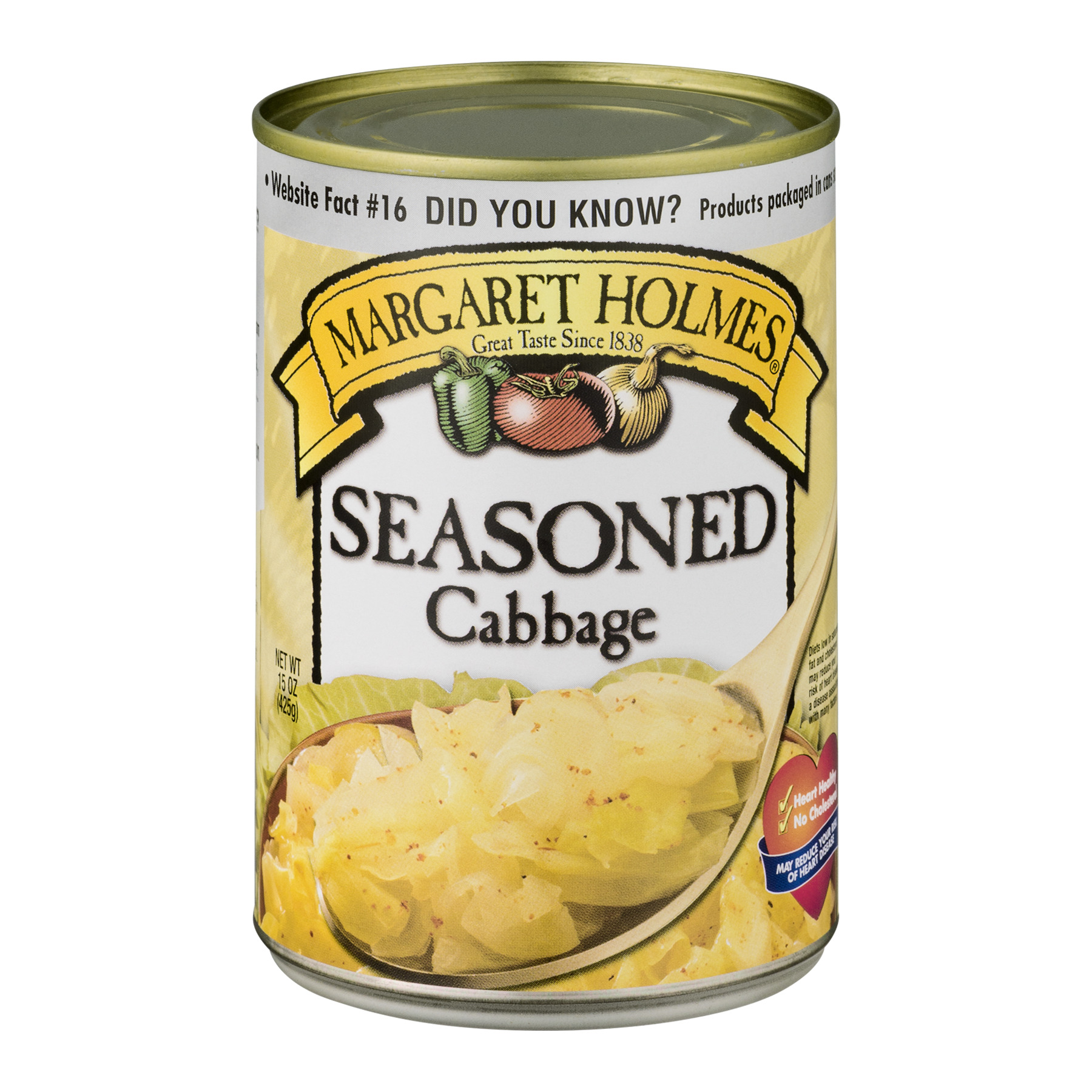 Margaret Holmes Seasoned Cabbage, 15 Oz