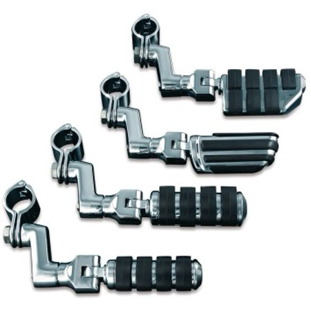 Kuryakyn Dually ISO Pegs with Offset and 1-1/4in. Magnum Quick Clamps