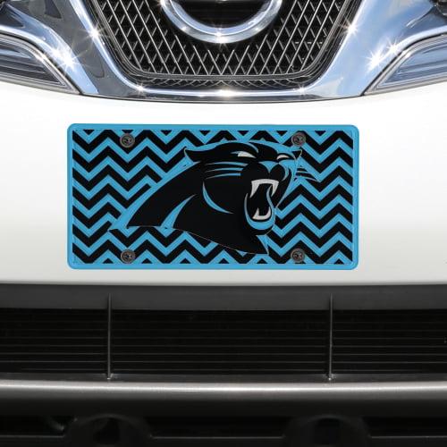 Carolina Panthers Chevron Acrylic Laser Cut Plate - No Size