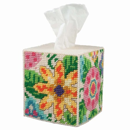 Herrschners® Mod Flowers Tissue Box Plastic Canvas (Best Box Mod Kit 2019)