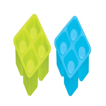 Ice Shot Glass - Color Factory Silicone Ice Shot Glass Shooter Molds (2Pcs), Green, Blue