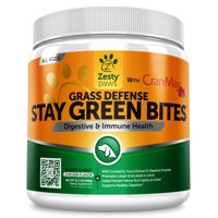 Zesty Paws Grass Burn Spot Chewables for Dogs - Neutralizer for Lawn Spots - With Cran-Max Cranberry for Urinary Tract, Kidney, Bladder Support - 90 Chews