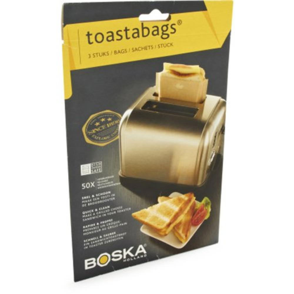 Toastabags 01-30-29 , Brown,3 bags/sachets, We love this quick and clean way to make delicious grilled cheeses in your toaster By Boska