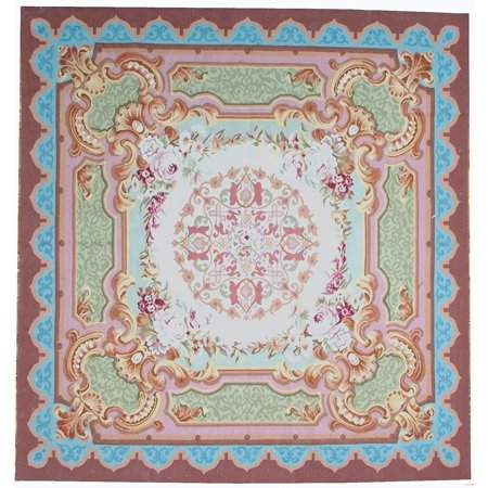 Hand Woven Aubusson Rugs (Pasargad Aubusson Hand-Woven New Zealand Wool Area)