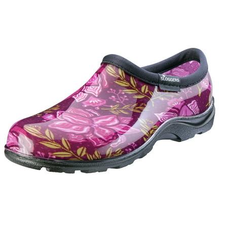 Sloggers 5118SSRS10 Size 10 Women's Waterproof Spring Surprise Rose Comfort Shoe ()