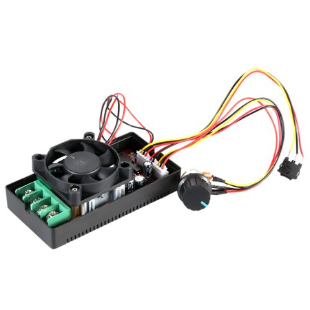 Adjustable H- DC Motor Speed PWM Controller with PLC Control Reversing Switch Braking Fan 12V 24V 36V 50V Speed Adjuster 1500W Pulse Width