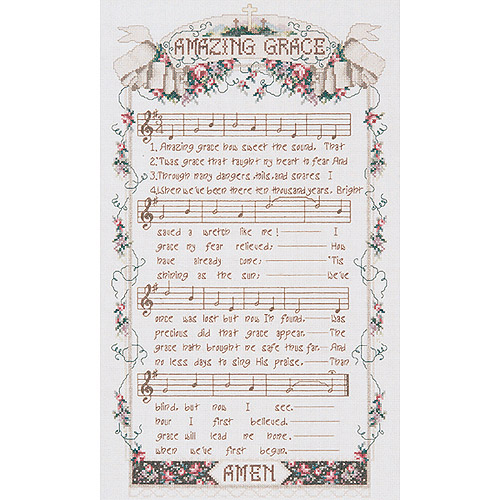 "Amazing Grace Counted Cross Stitch Kit, 12"" x 20"", 14-count"