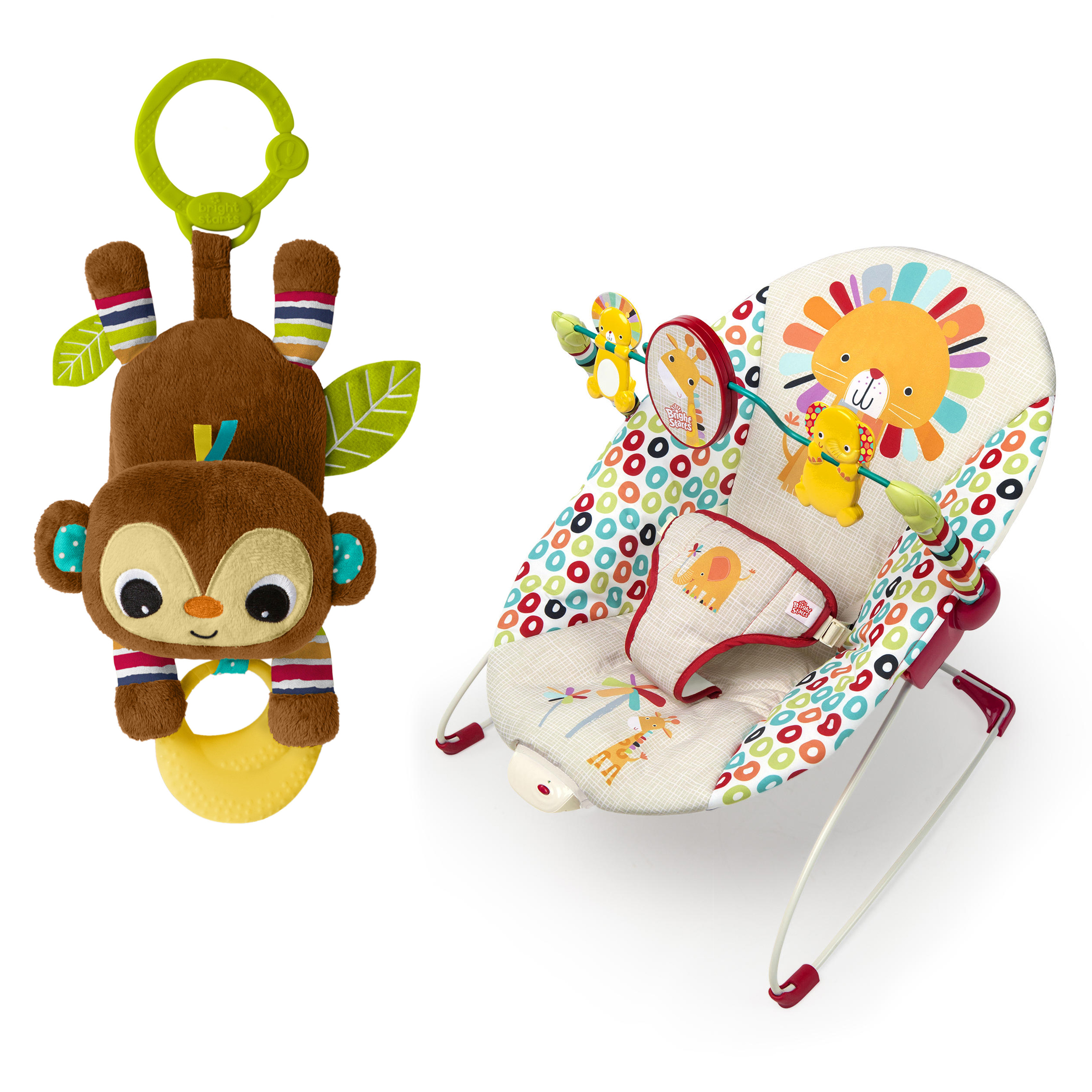 Bouncing Bananas Baby Bouncer and Toy Bundle
