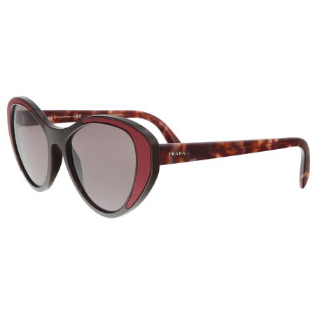 Prada PR 14US YEO6X1 Brown Cat eye Sunglasses (Prada Cat Eye Brille)