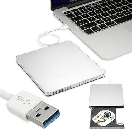 USB 3.0 CD/DVD-RW Burner Writer Slim Portable External CD/DVD Burner Hard Drive for Win 10 7 PC Windows XP/OS