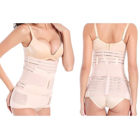 Yosoo 3 in 1 Women Postpartum Belly Recovery Girdle Tummy Wrap Corset Body Shaper Belt - Preggo Belly