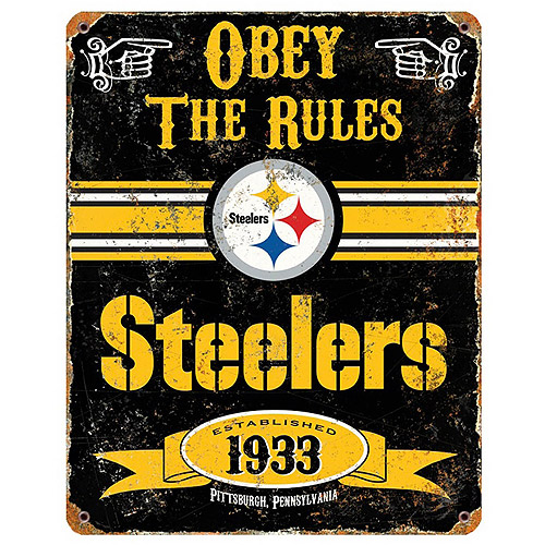 Party Animal NFL Pittsburgh Steelers Vintage Sign