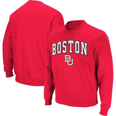 Boston University Colosseum Arch & Logo Crew Neck Sweatshirt - Red