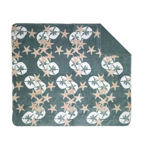 Denali Throws Starfish and Sand Dollars Throw Blanket