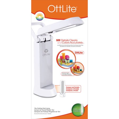 Ottlite Folding Task Lamp White