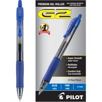 Pilot G2 Retractable Gel Ink Rollerball Pens, 1 Dozen (Quantity)