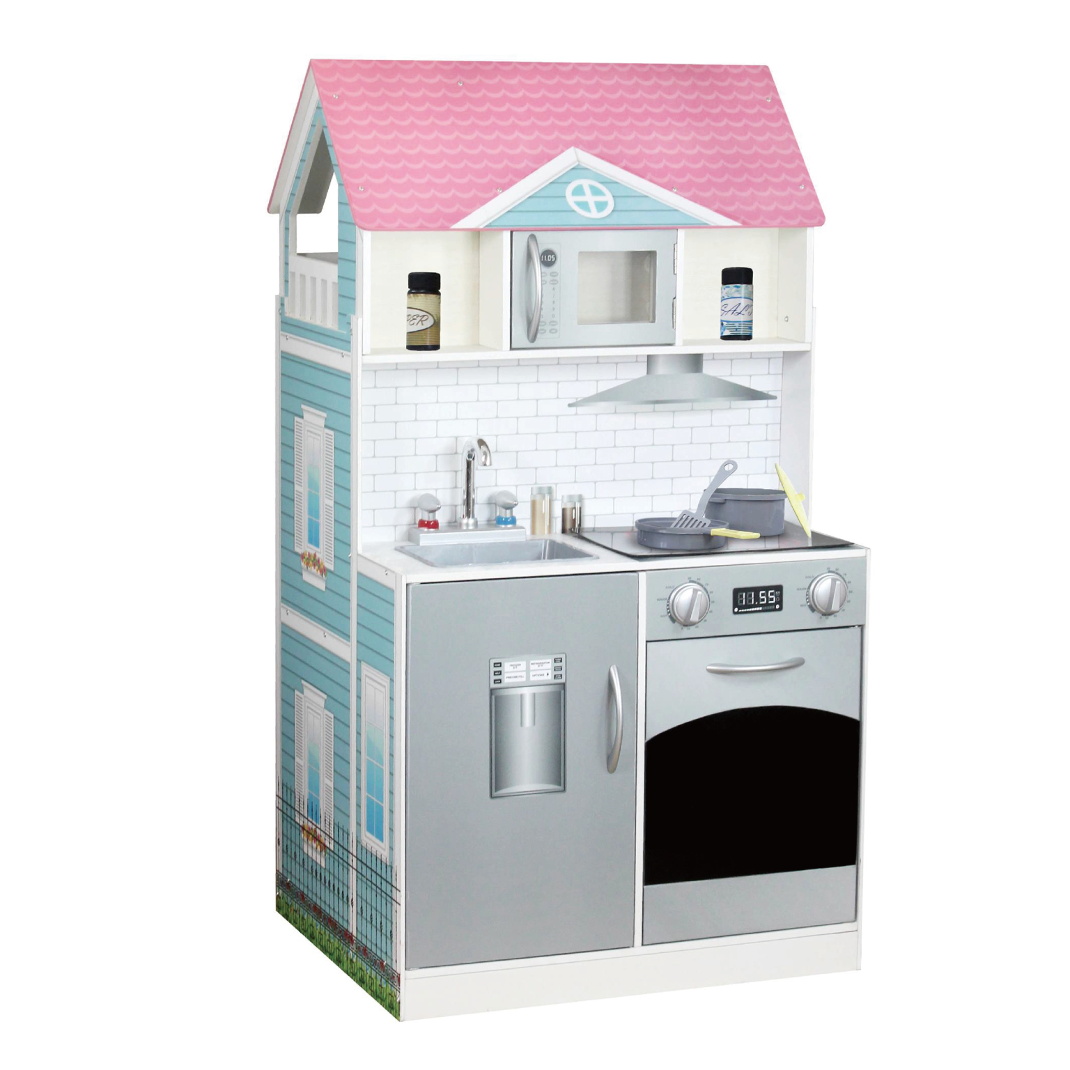 Teamson Kids Wonderland Ariel 2 in 1 Doll House & Play Kitchen - Muti-color
