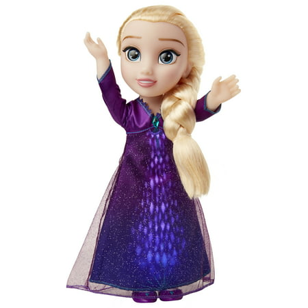 "Disney Frozen 2 Princess Elsa Interactive Feature Doll sings ""Into The Unknown"" and Says 14 Film Phases"