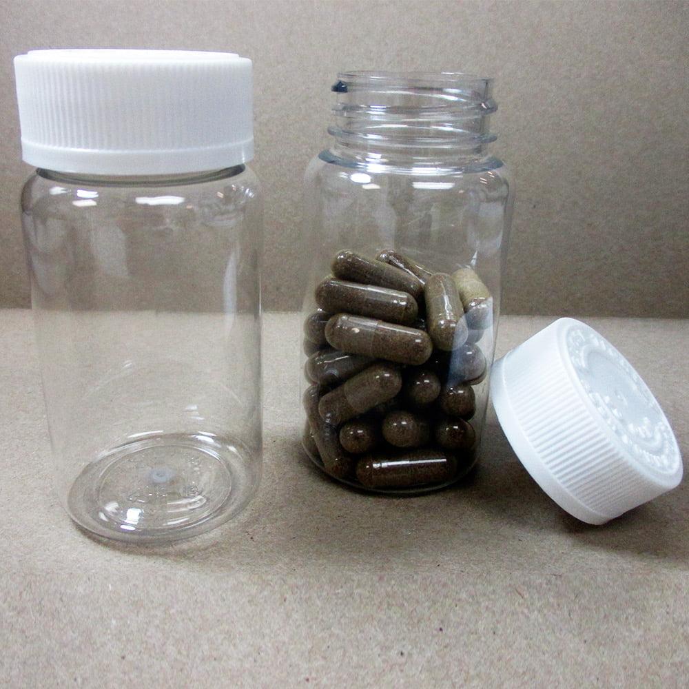 50 Clear Empty Plastic Pill Bottles Cap Medicine Container Vitamin Capsule Safe