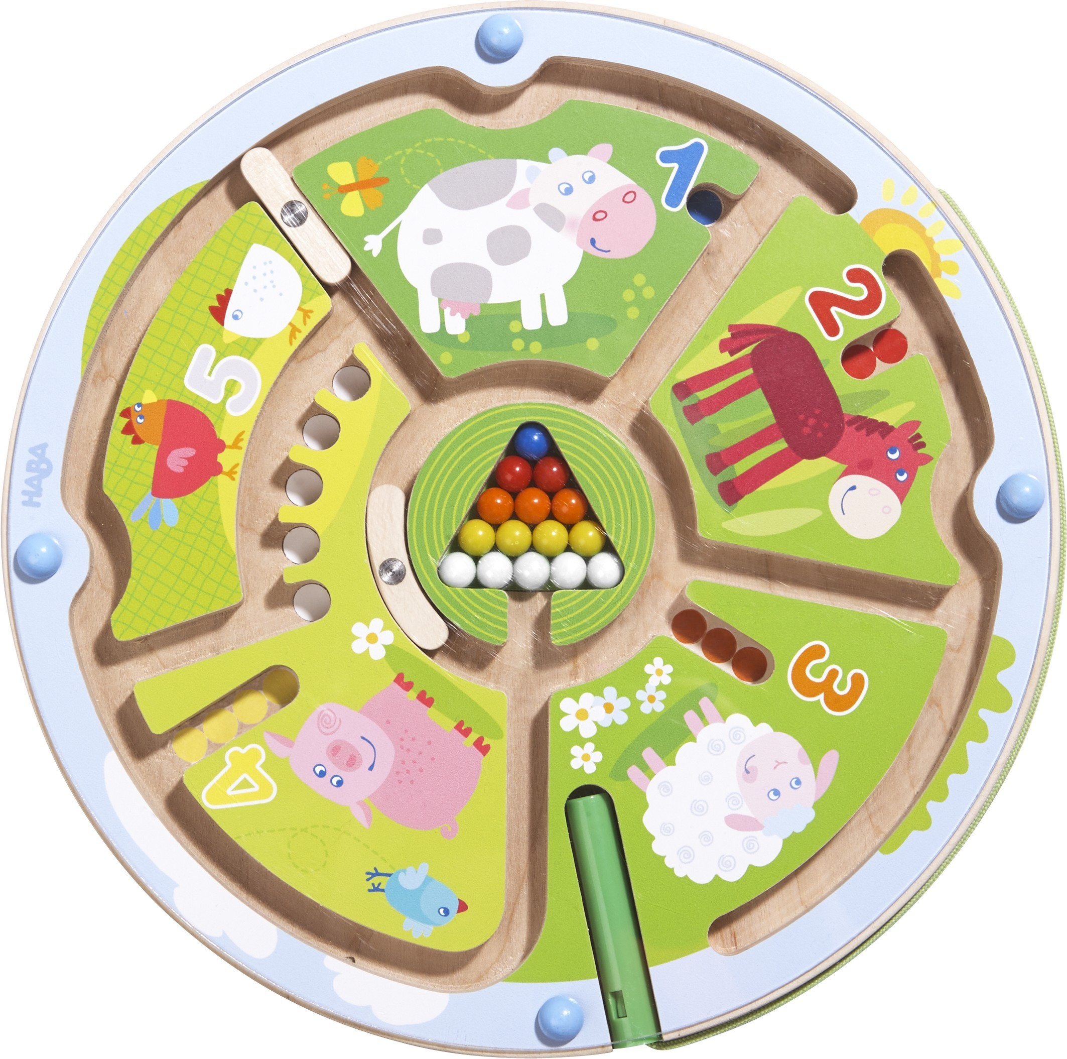 HABA Number Maze Magnetic Game - STEM Toy Encourages Color Recognition, Fine Motor & Counting to 5