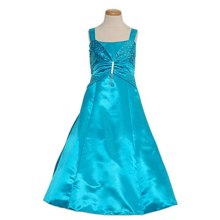 Rain Kids Toddler Girls 2T Blue Sleeveless Rhinestone Pageant - Toddler Belle Dress