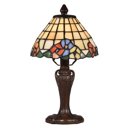 Floral One Light - Springdale Lighting Basking 13 in. Floral Tiffany Accent Table Lamp