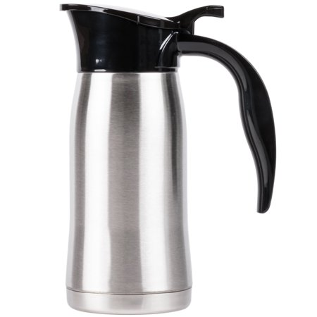 Slimline Beverage - 24 oz. Stainless Steel Insulated Slimline Carafe / Server
